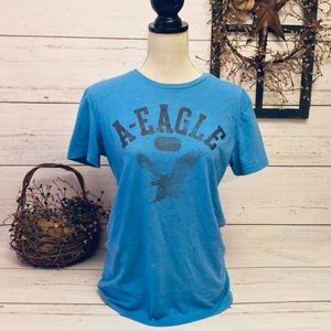 American Eagle Outfitters Blue Short Sleeve Tshirt
